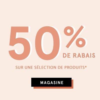 50% de rabais